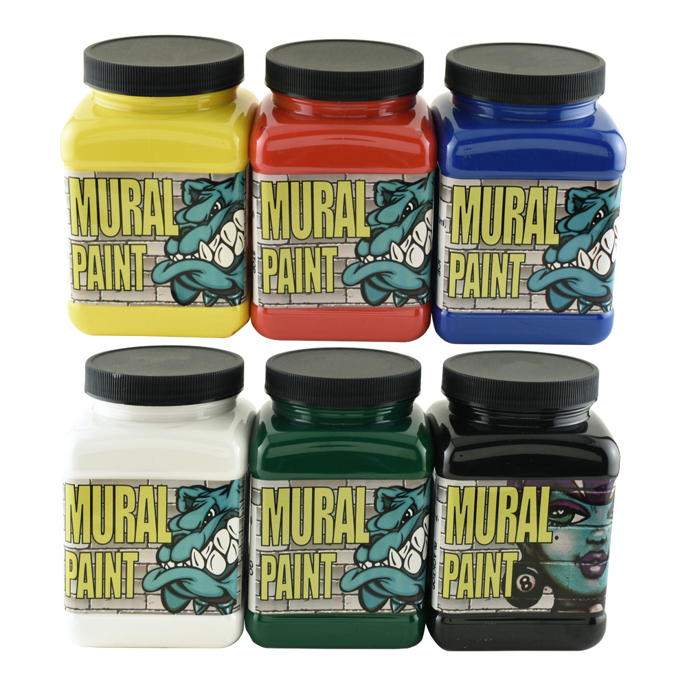 Chroma Mural Paint 16 Oz Set of 6 Primary