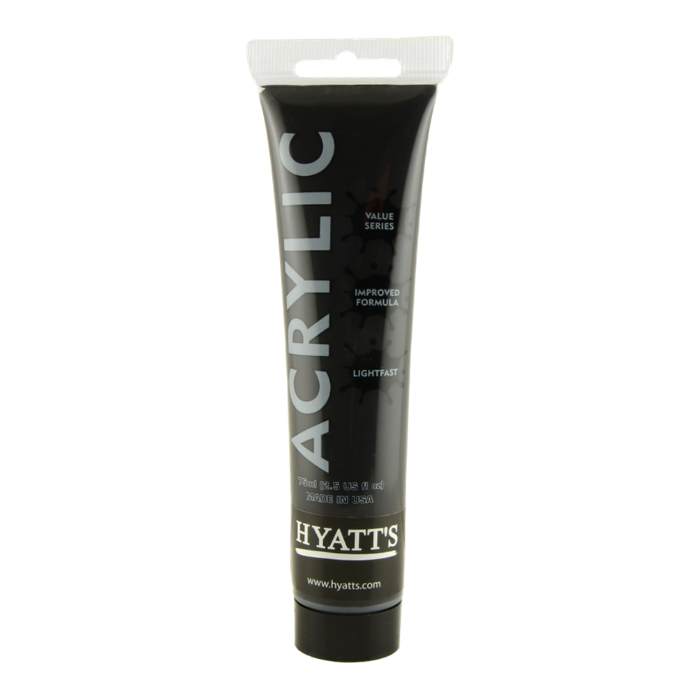 Hyatt's Acrylic 75Ml Ivory Black