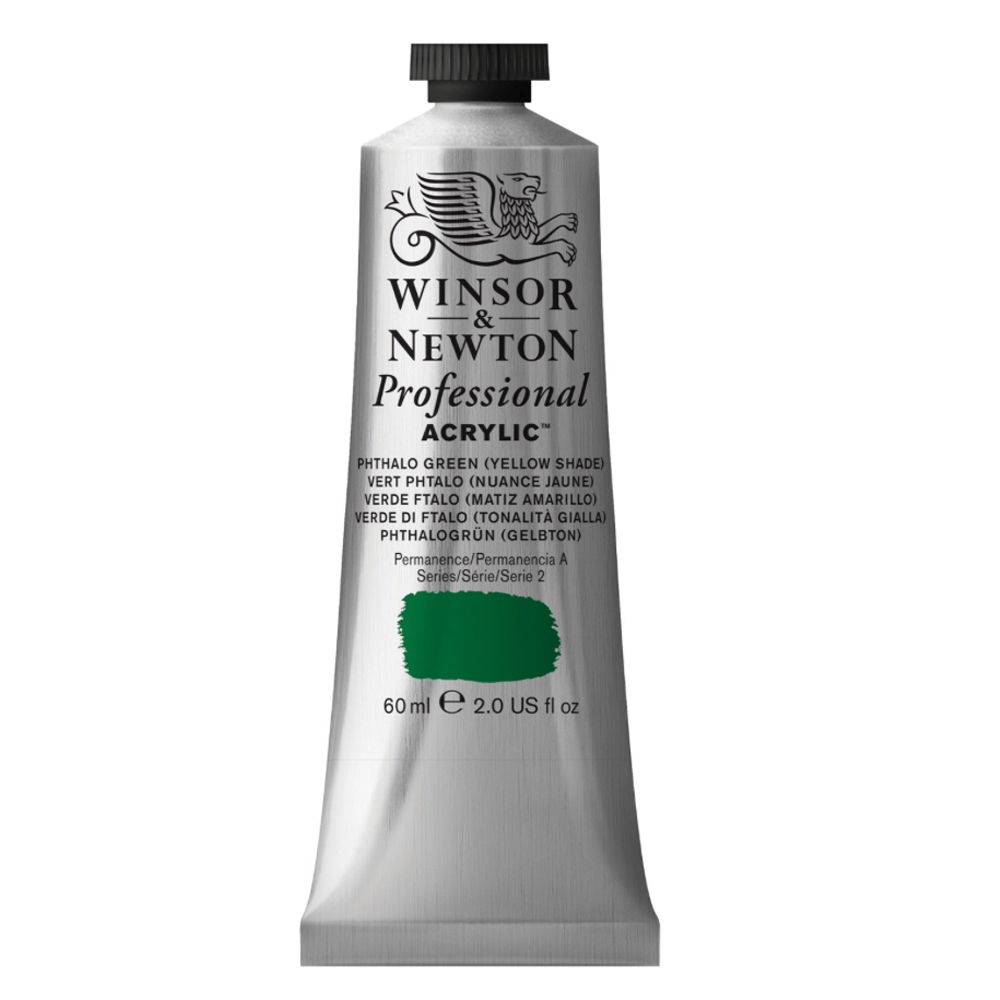 W&N Artist Acrylic 60Ml Phthalo Green/Yl
