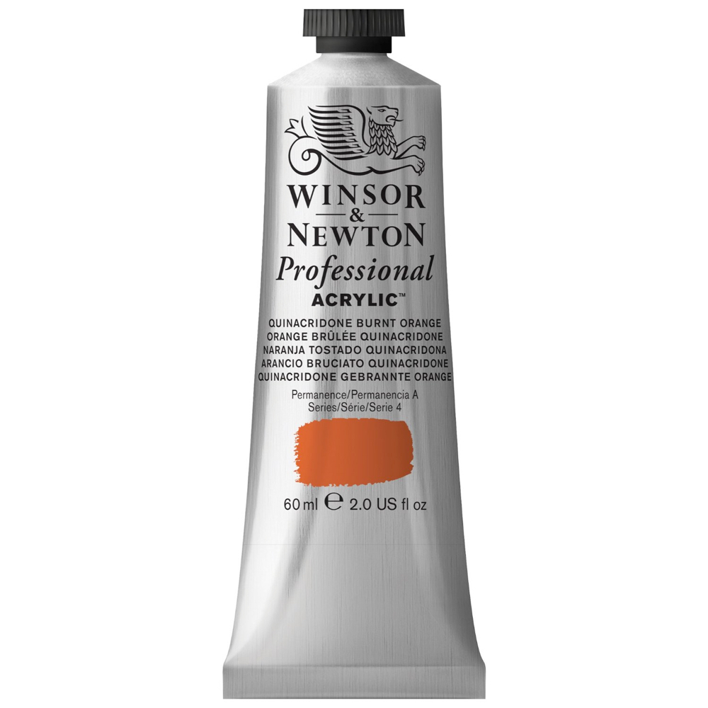 W&N Artist Acrylic 60Ml Quinac Brnt Orange