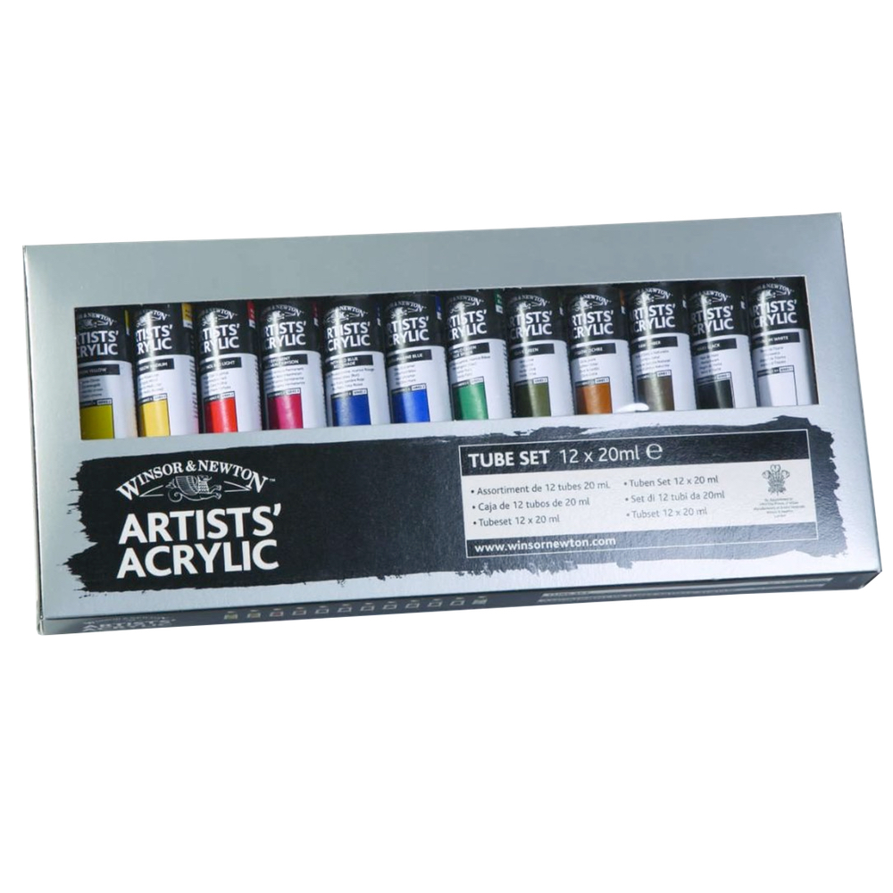 W&N Artist Acrylic Starter Set 12 Tubes 20Ml