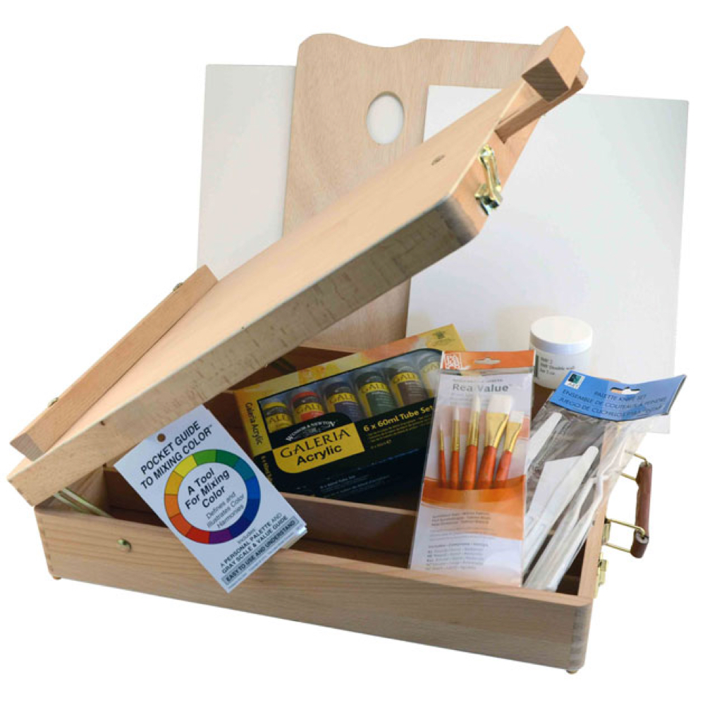 Hyatt's Sketchbox Easel & Acrylic Paint Set