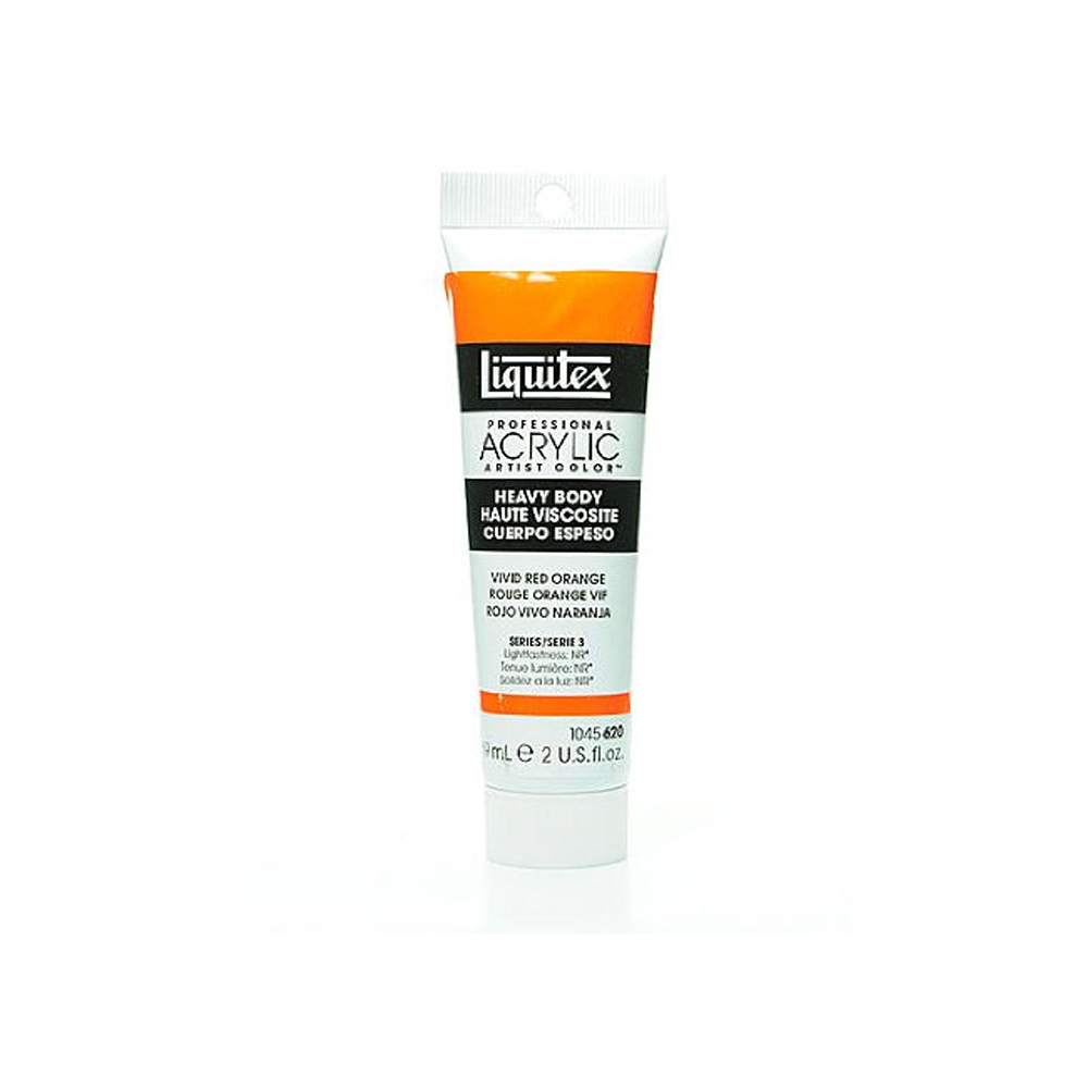Liquitex Hvy Acrylic 2 Oz Vivid Red Orange