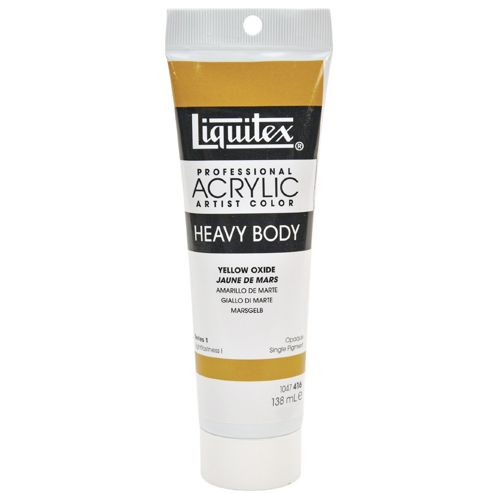 Liquitex Hvy Acrylic 4.65 Oz Yellow Oxide