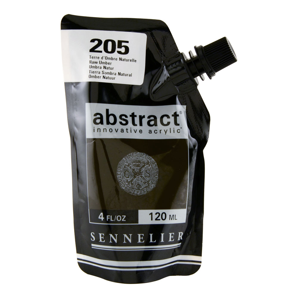 Abstract Acrylic 120ml Raw Umber