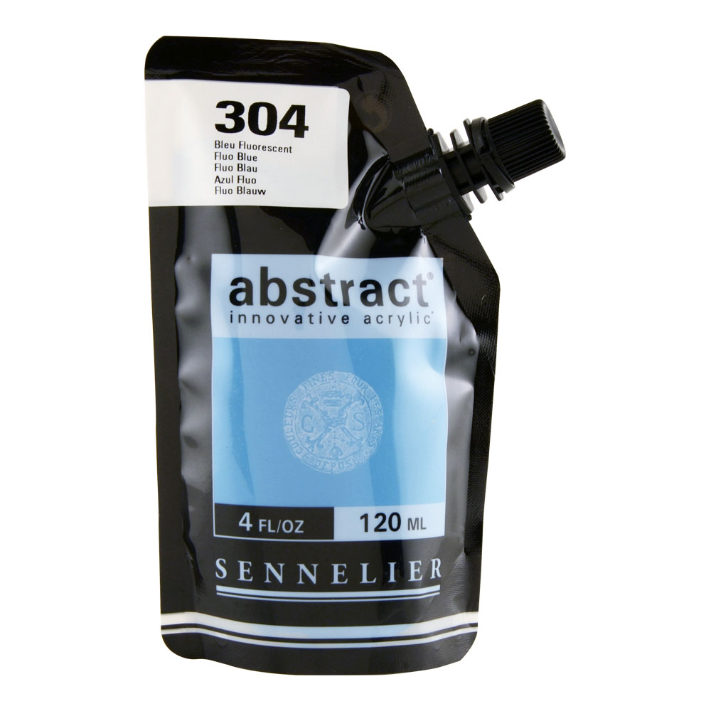 Abstract Acrylic 120ml Fluorescent Blue