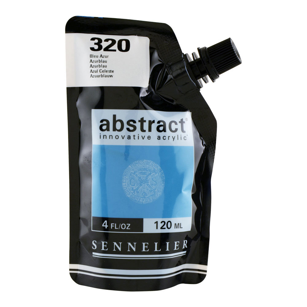 Abstract Acrylic 120ml Azure Blue