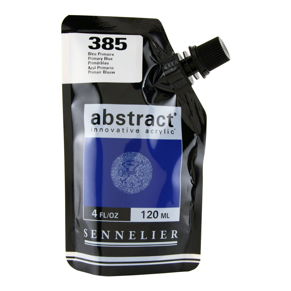 Abstract Acrylic 120ml Primary Blue