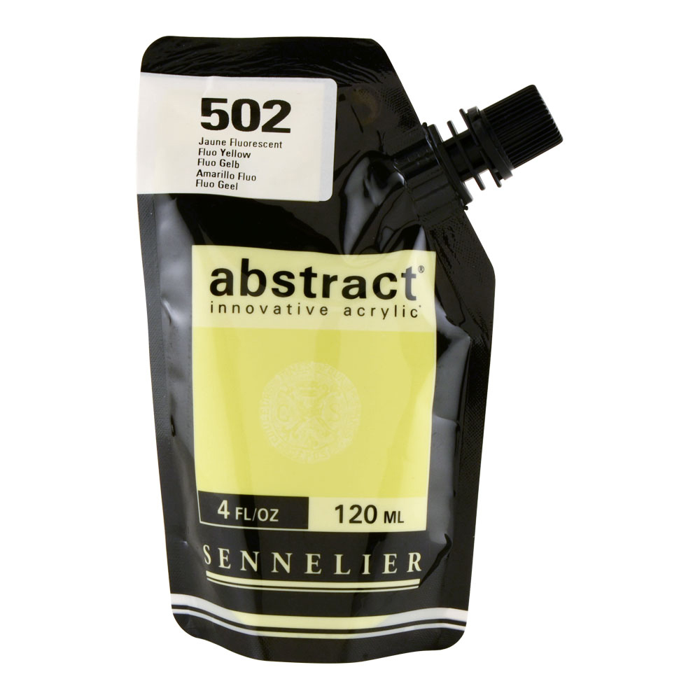 Abstract Acrylic 120ml Fluorescent Yellow