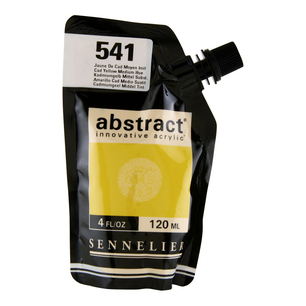 Abstract Acrylic 120ml Cadmium Yellow Med Hue