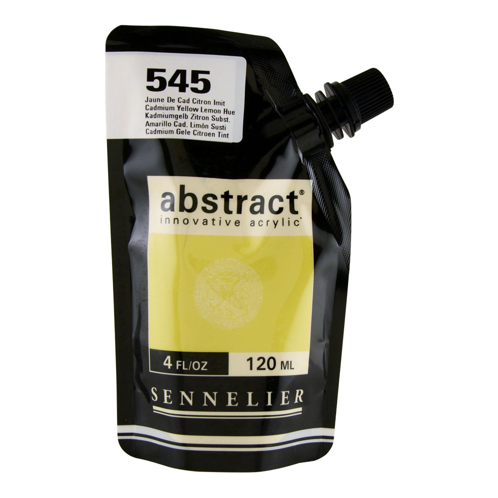 Abstract Acrylic 120ml Cad Yellow Lemon Hue