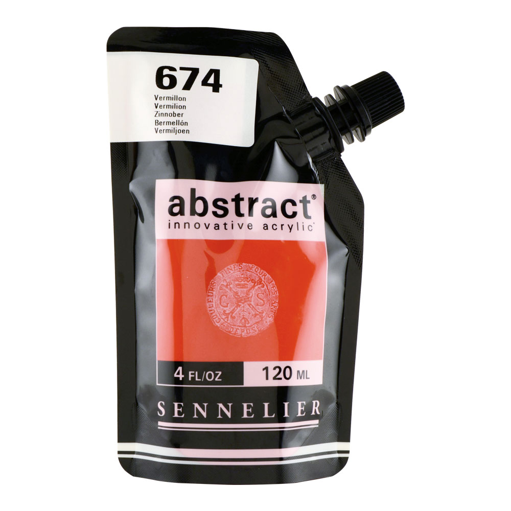 Abstract Acrylic 120ml Vermilion