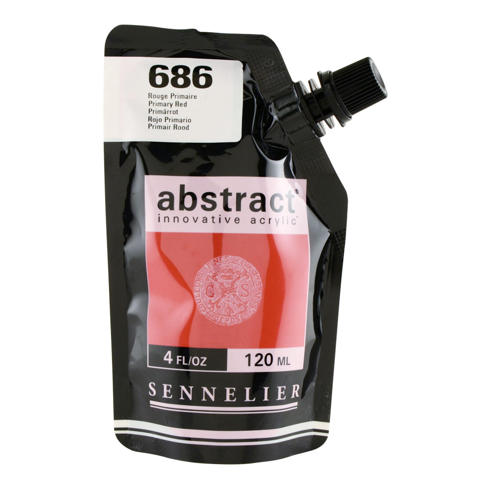 Abstract Acrylic 120ml Primary Red