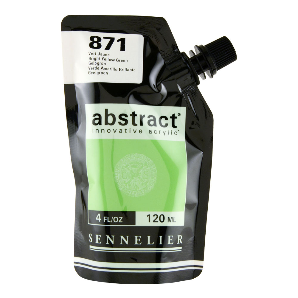Abstract Acrylic 120ml Bright Yellow Green