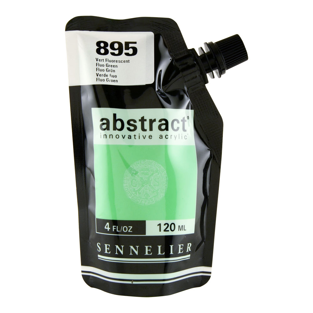 Abstract Acrylic 120ml Fluorescent Green