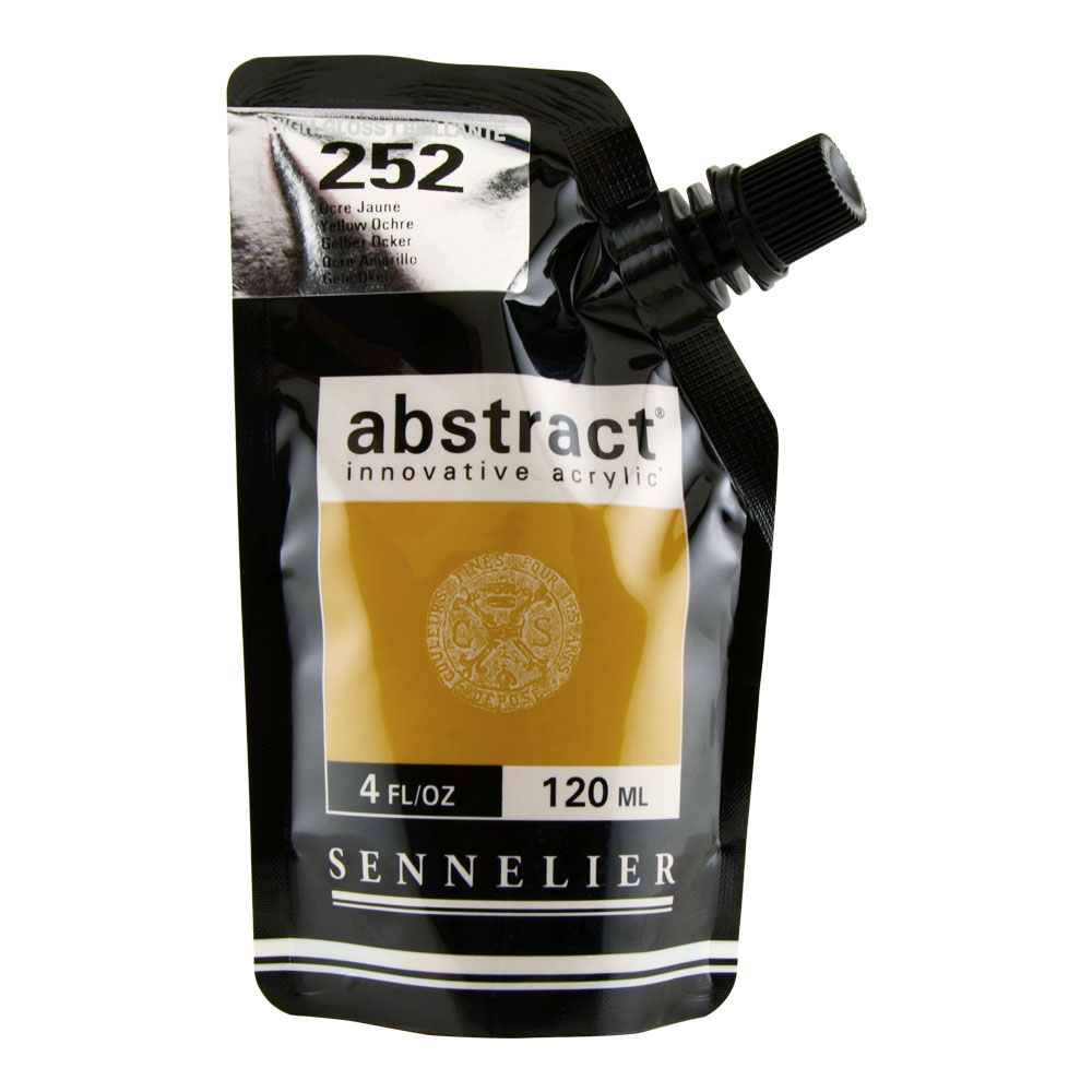 Abstract Acrylic 120ml Gloss Yellow Ochre