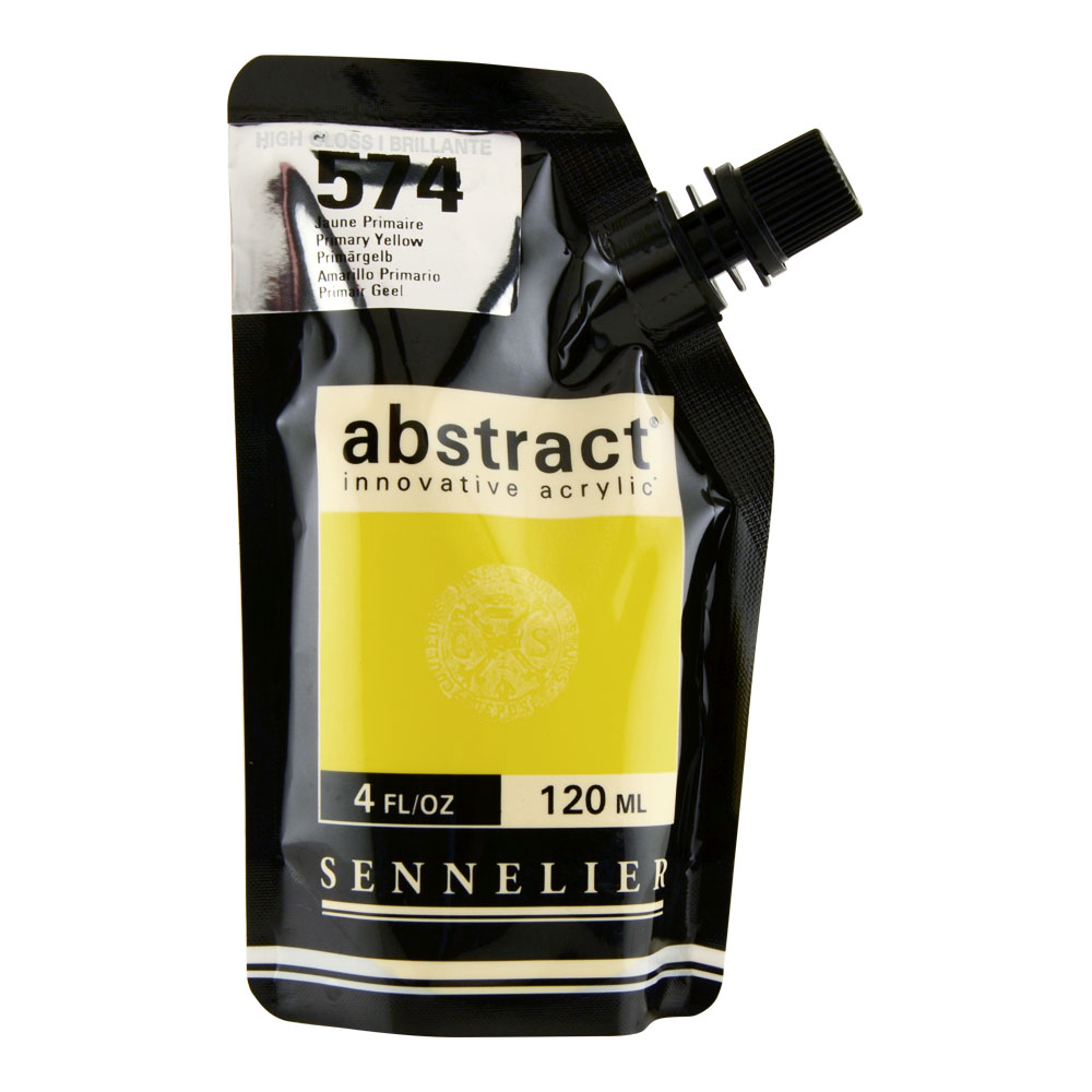 Abstract Acrylic 120ml Gloss Primary Yellow