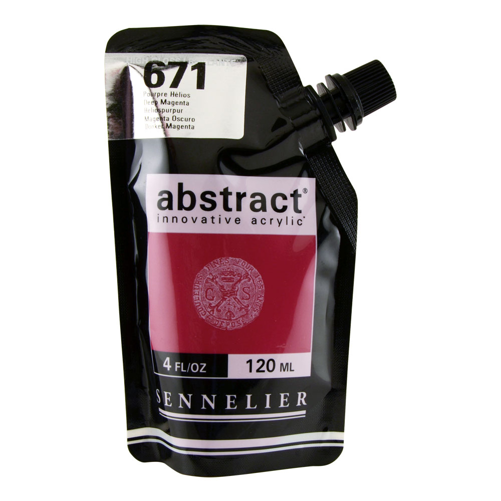 Abstract Acrylic 120ml Gloss Deep Magenta