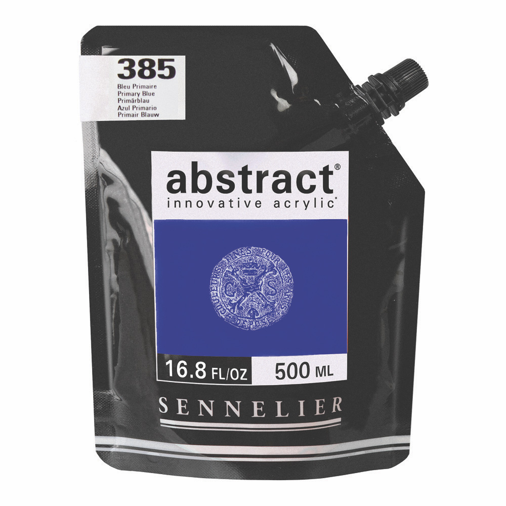 Abstract Acrylic Primary Blue 500ml