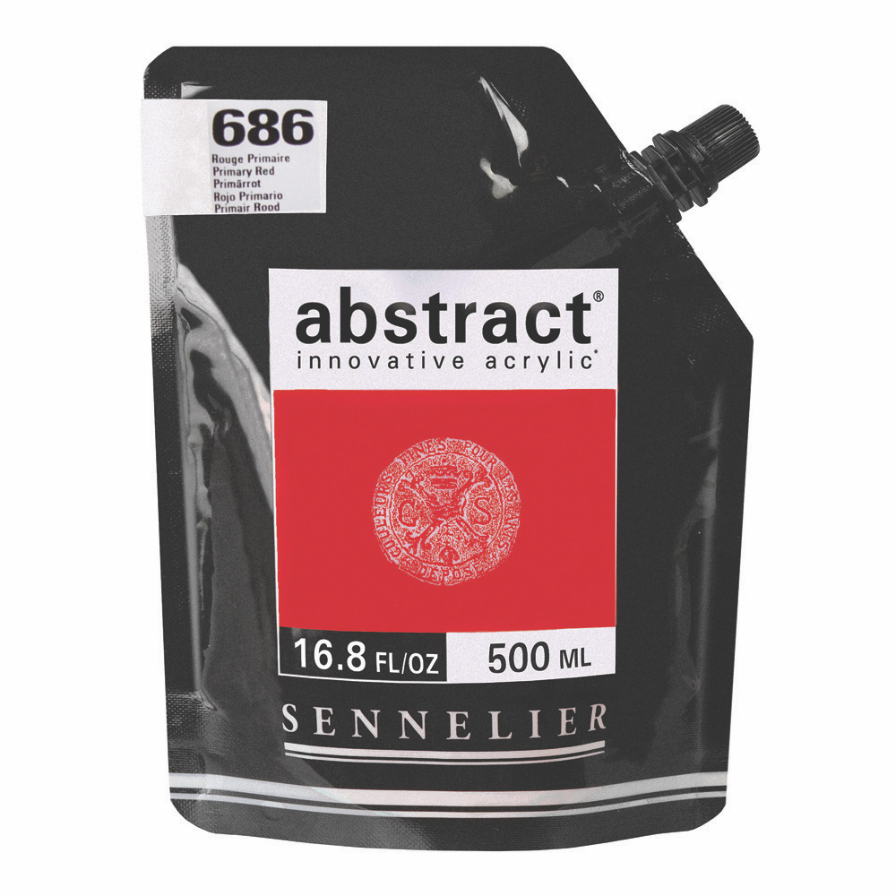 Abstract Acrylic Primary Red 500ml