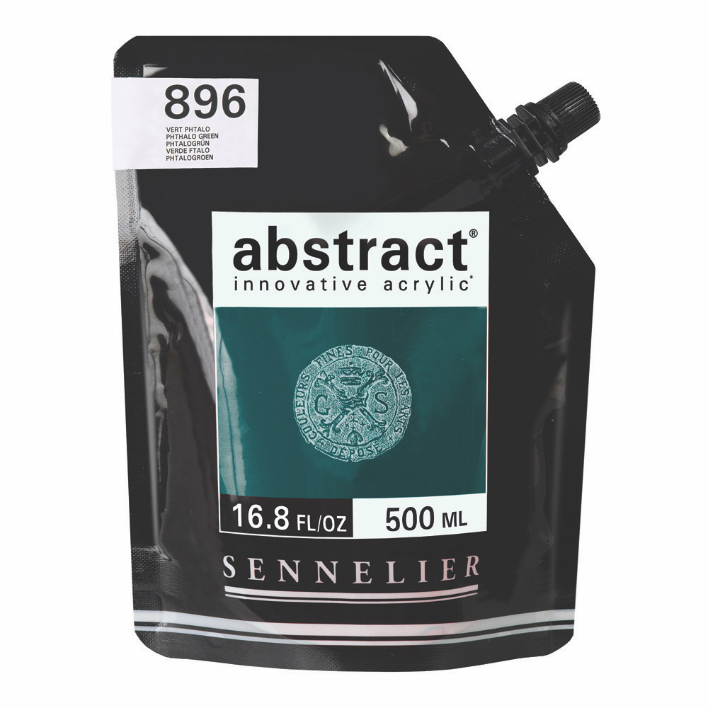 Abstract Acrylic Phthalo Green 500ml