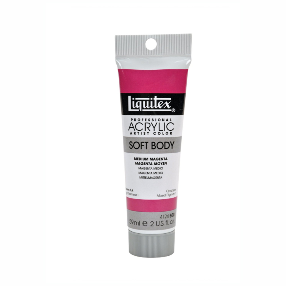 Liquitex Soft Acryl 2 Oz Medium Magenta