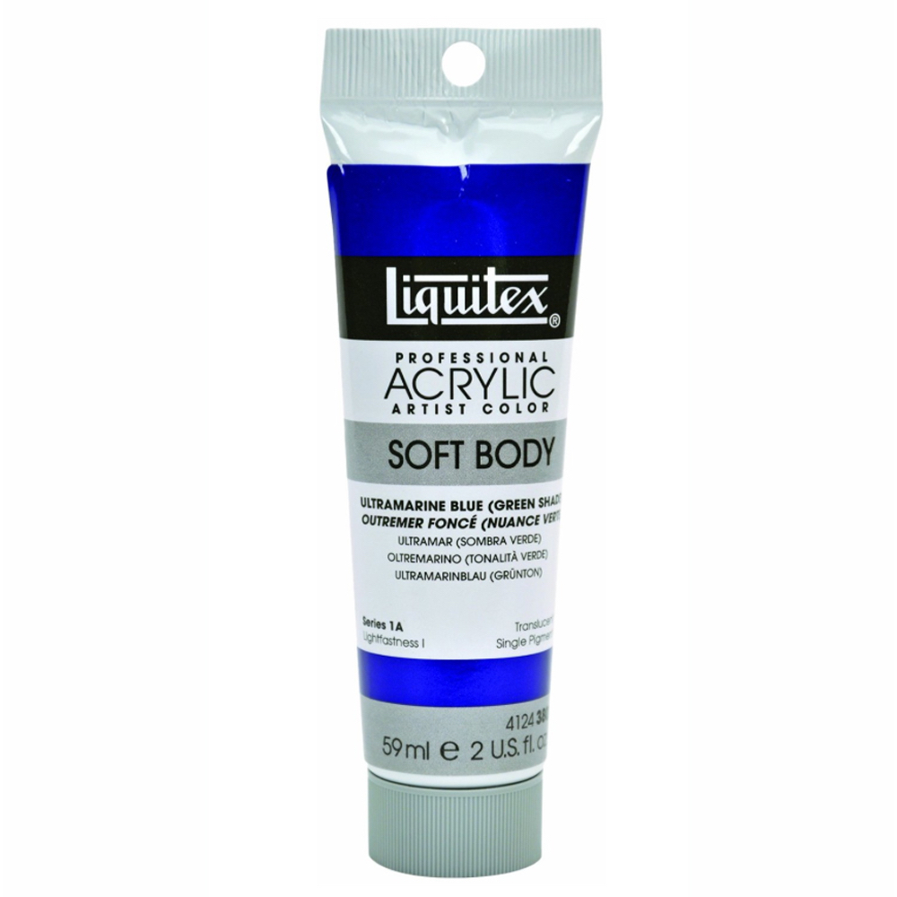 Liquitex Soft Acryl 2 Oz Ultramarine Blue Grn