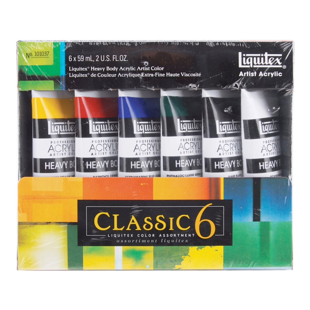 Liquitex Heavy Acrylic Studio 6 Tube Set 1037
