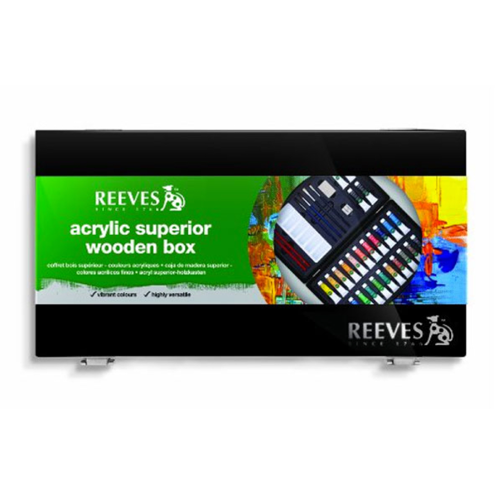 Reeves Acrylic Superior Wood Box Set