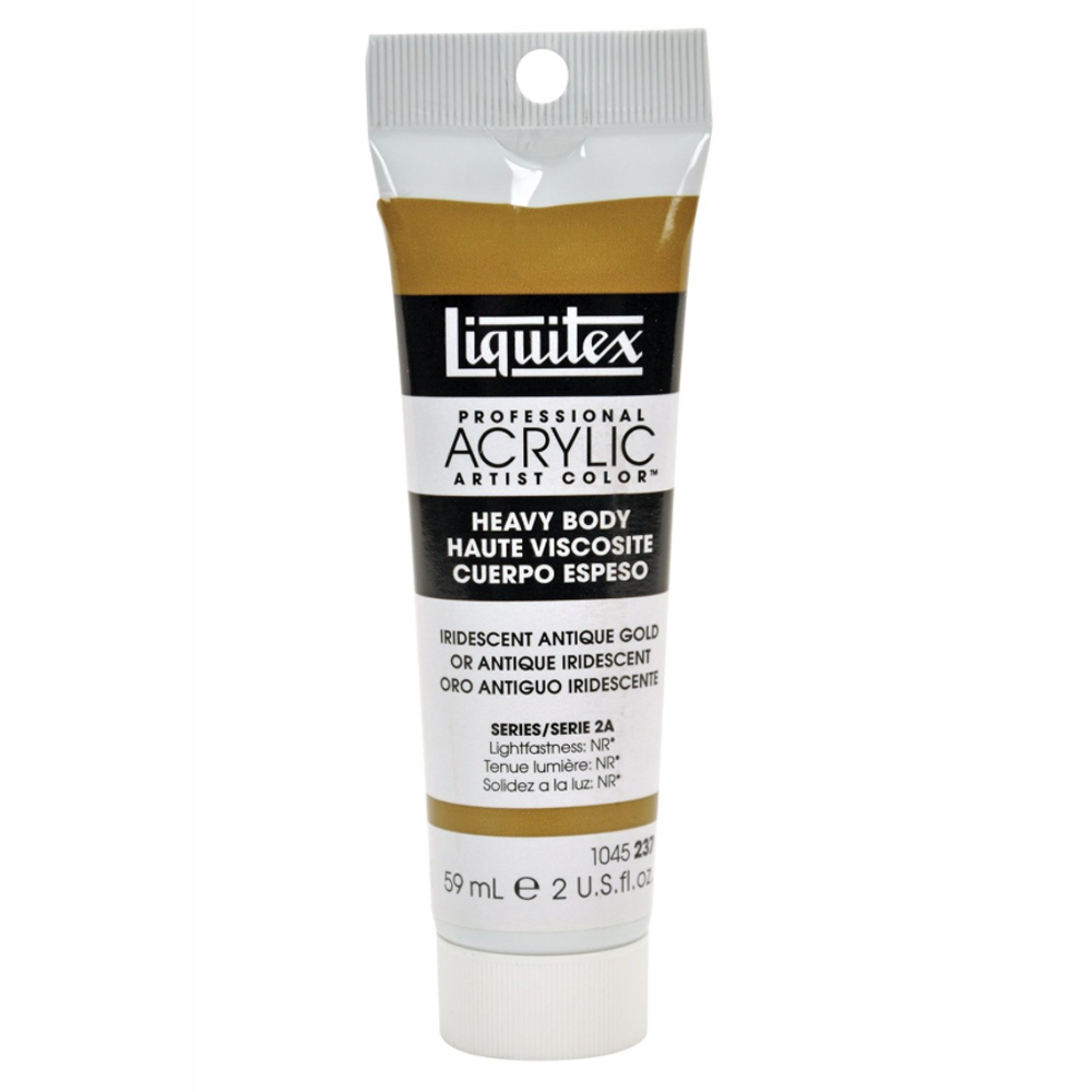 Liquitex Heavy Acrylic 2 Oz Irid Antique Gold