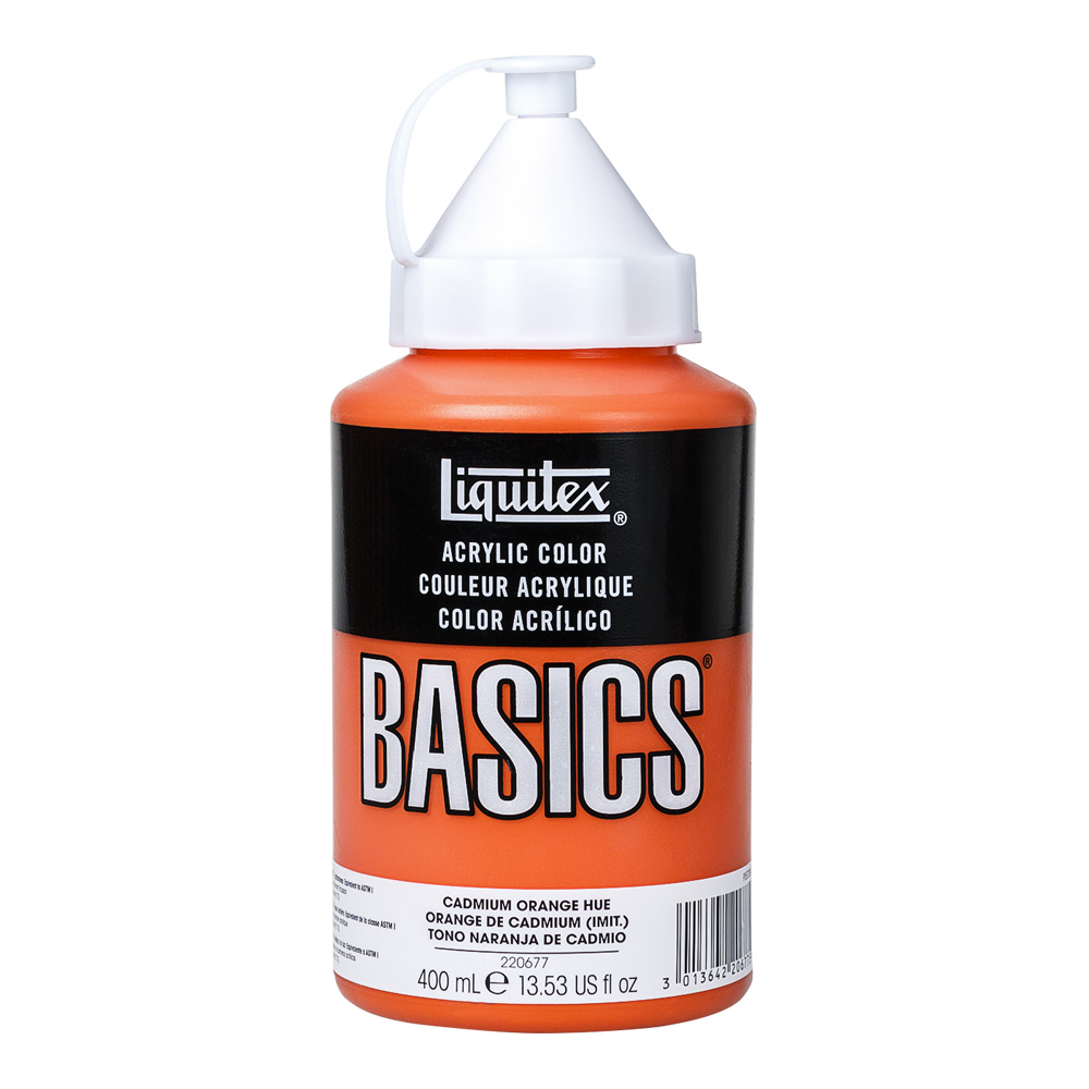 Basics Acrylic 400ml Cadmium Orange Hue