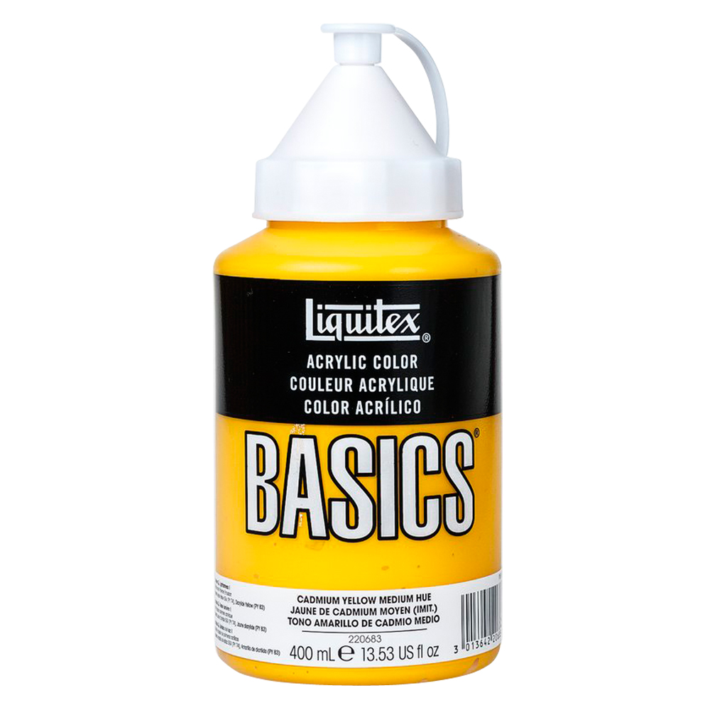 Basics Acrylic 400ml Cadmium Yellow Med Hue