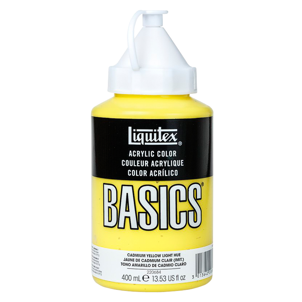 Basics Acrylic 400ml Cadmium Yellow Lt Hue