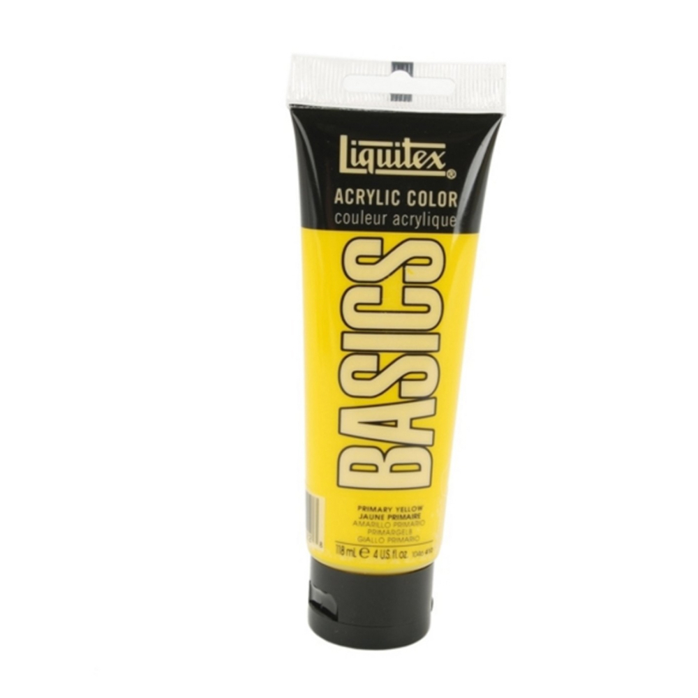 Basics Acrylic 4 Oz Primary Yellow