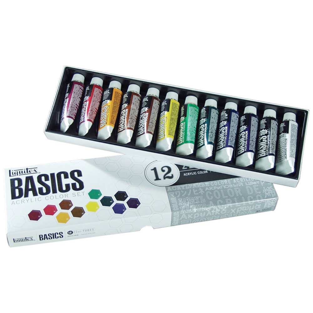 Basics Acrylic 12 Color 22Ml Set