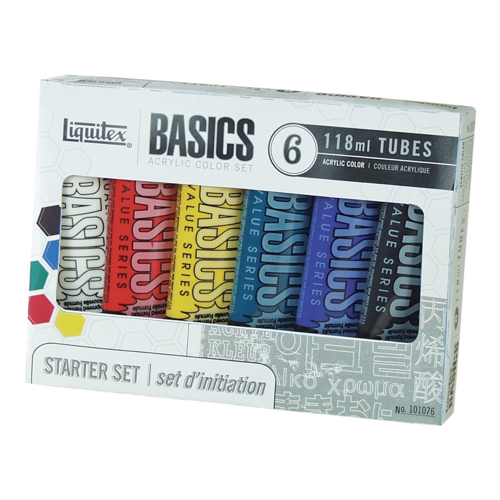 Basics Acrylic 6 Tube Set 1076