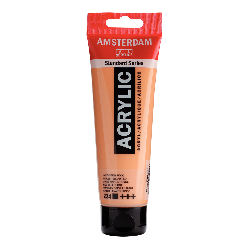 Amsterdam Acrylic 120Ml Naples Yellow Red
