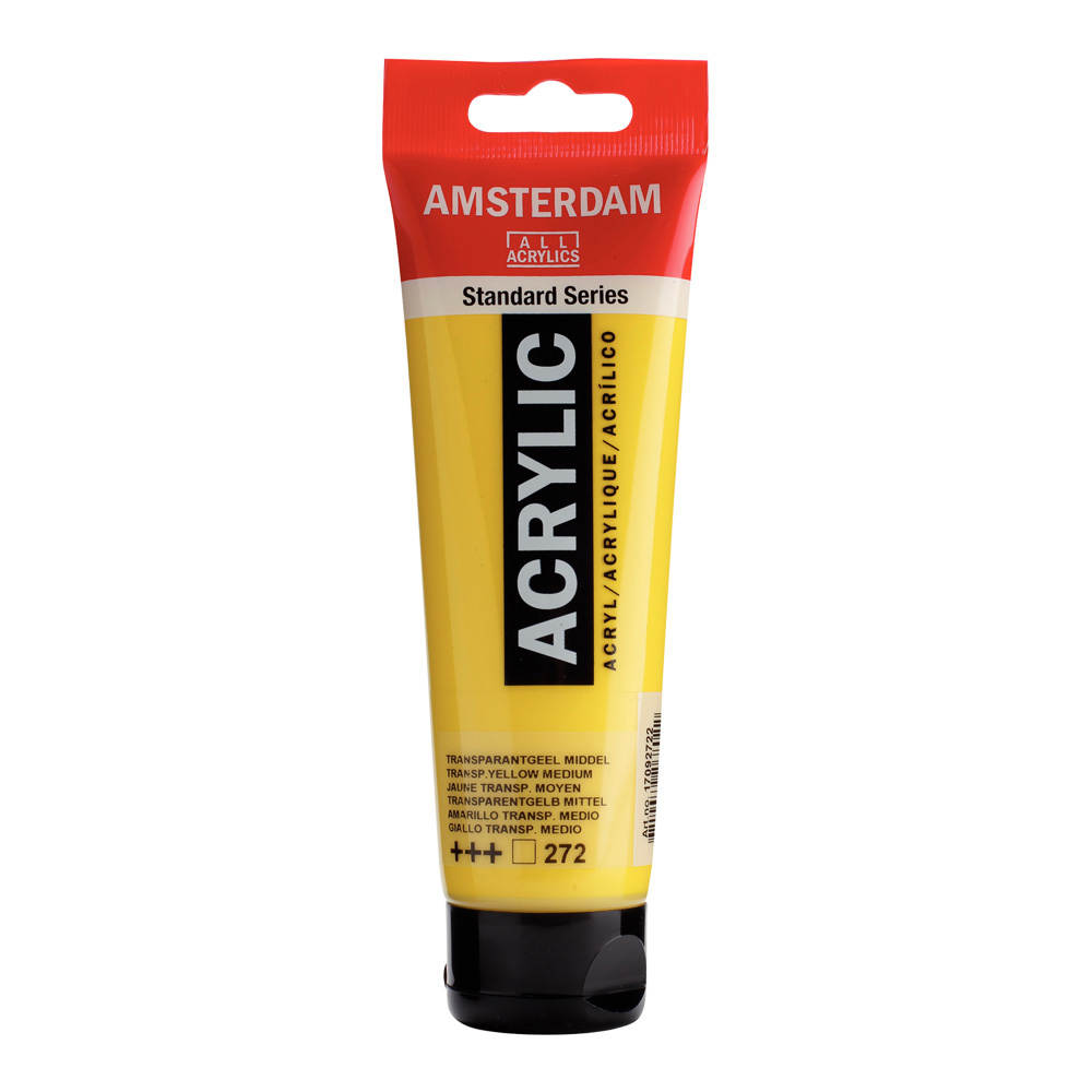 Amsterdam Acrylic 120Ml Transparent Yellow Md