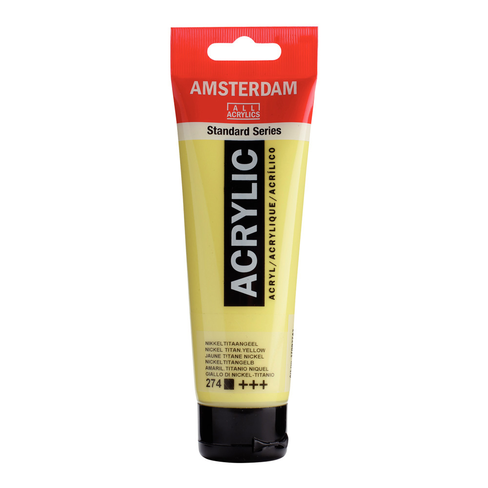 Amsterdam Acrylic 120Ml Nickel Titan Yellow