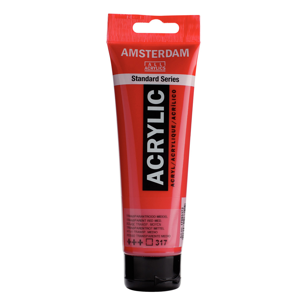 Amsterdam Acrylic 120Ml Transparent Red Md