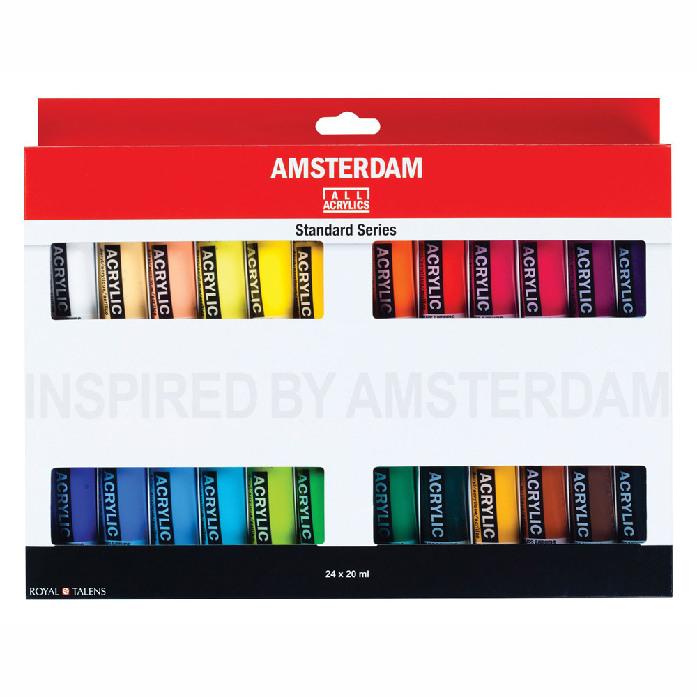 Amsterdam Acrylic 20Ml 24-Color Set