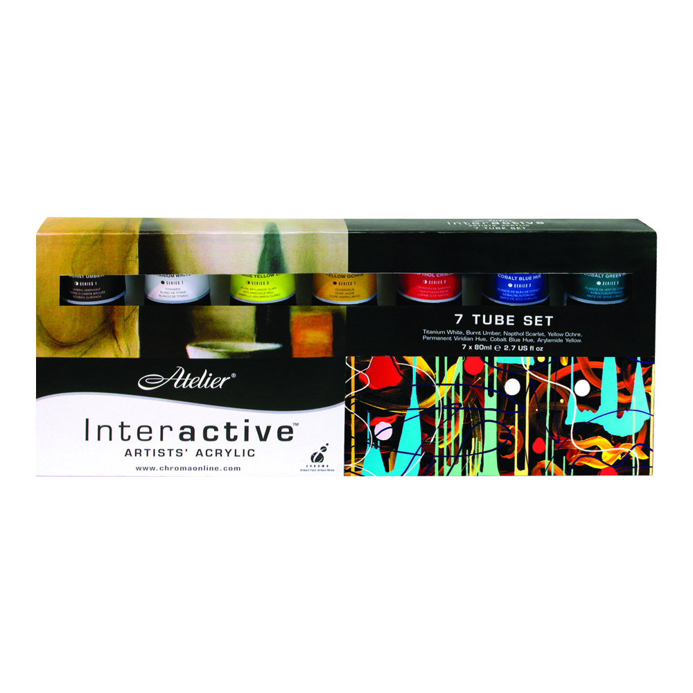 Atelier Interactive Acryl 80ml 7-Tube Set