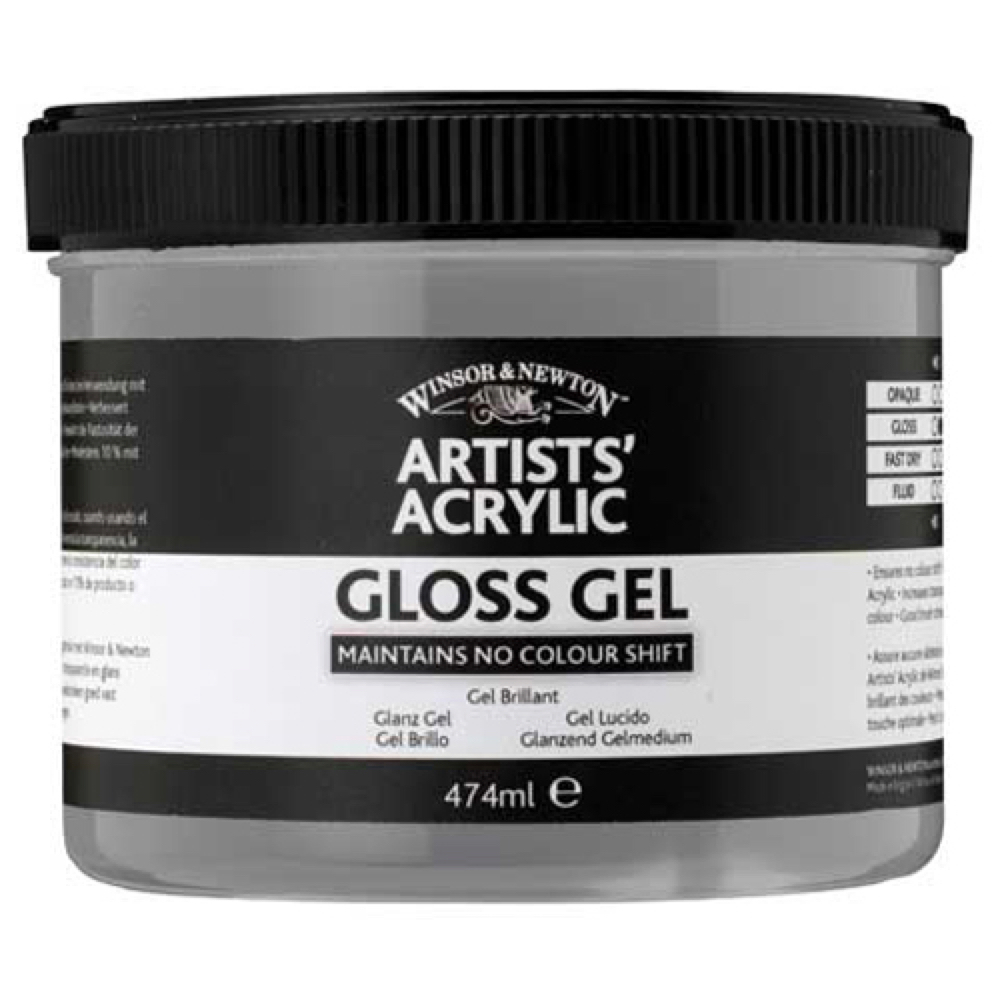 W&N Artist Acrylic Gloss Gel Medium 8 Oz