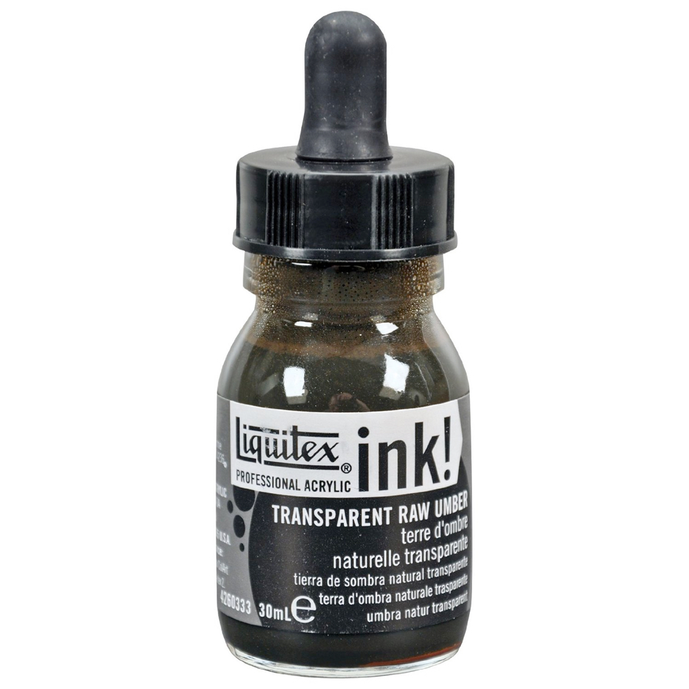 Liquitex Acrylic Ink 30Ml Trans Raw Umber