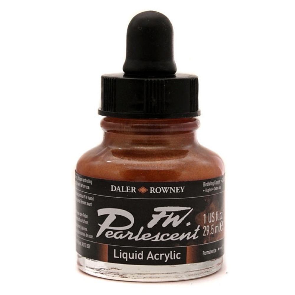 Fw Pearlescent Acryl Ink 1 Oz Birdwing Copper