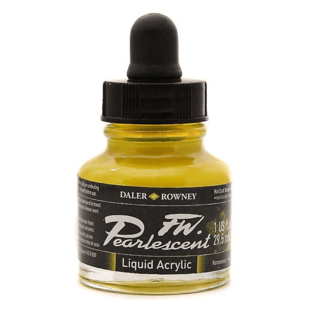 Fw Pearlescent Ac Ink 1 Oz Hot Cool Yellow