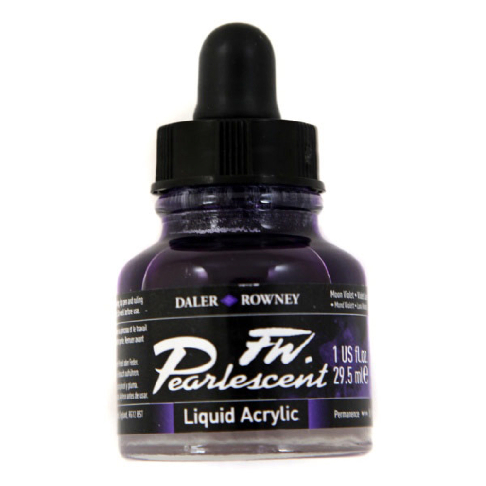 Fw Pearlescent Acrylic Ink 1 Oz Moon Violet