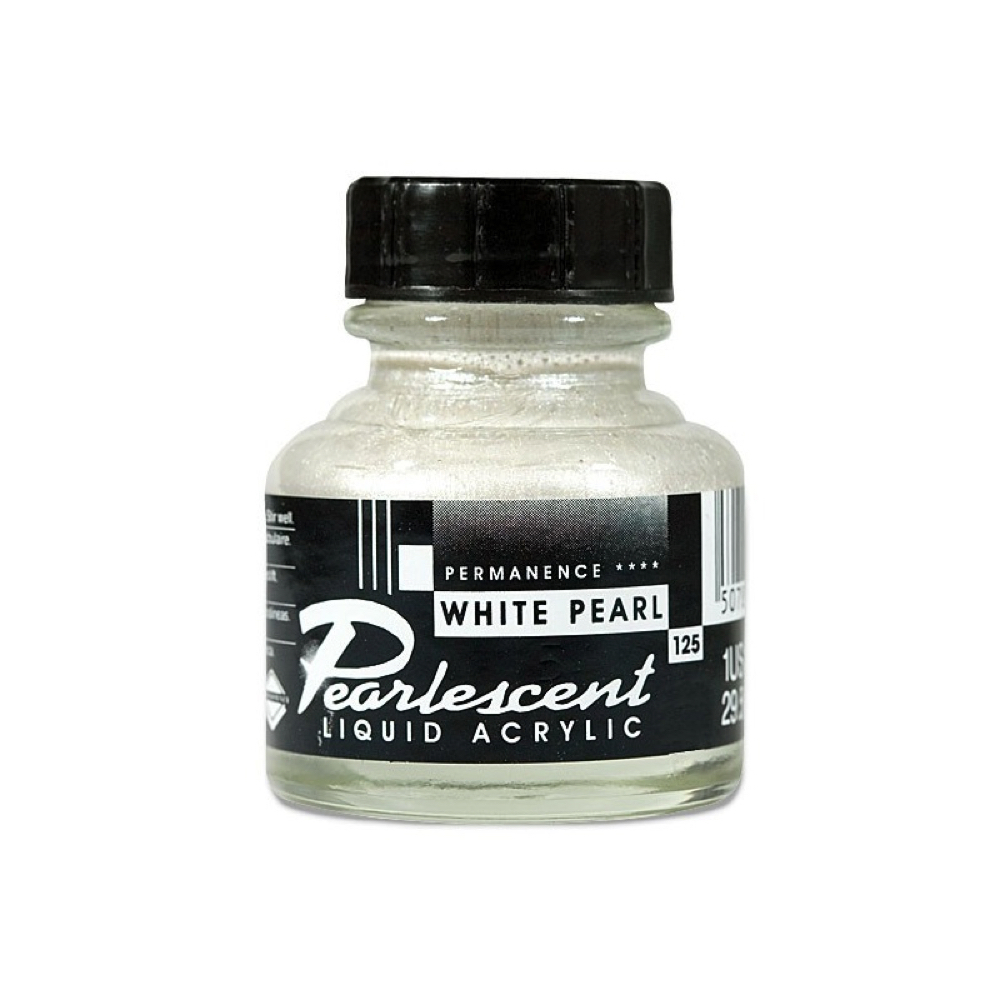 Fw Pearlescent Ac Ink 1 Oz White Pearl