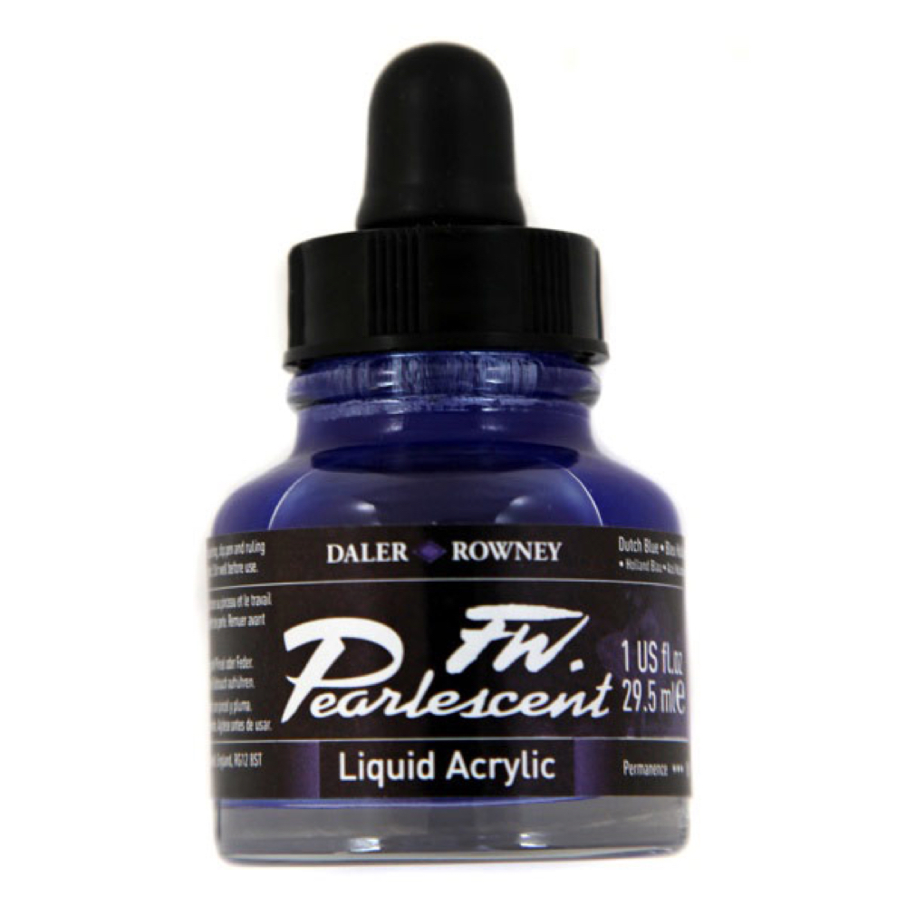 Fw Pearlescent Ac Ink 1 Oz Dutch Blue