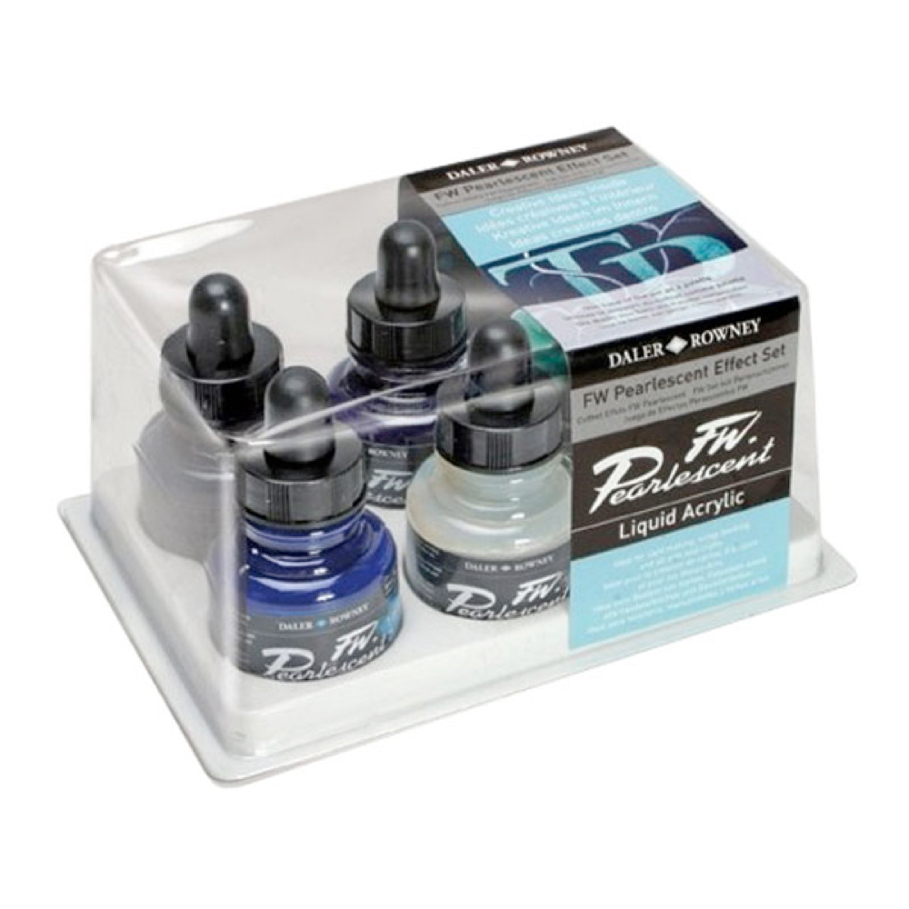 Fw Pearlescent Acrylic Ink Set Of 6